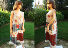Cotton & lace patchwork loose dress Hippy Summer Holiday Beach Boho Large