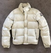 Moncler Everest Parka Puffer Down Bomber Jacket 0 XS Ivory Off White