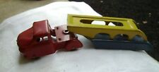 Antique Toy Metal Truck with Car Carrier