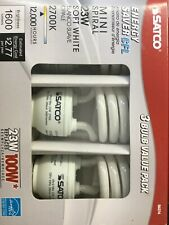 Satco 23-watt Fluorescent Spiral Bulb 3-pack - Lot Of 4
