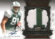 Dustin Keller 2008 UD Exquisite Collection Rookie Auto graph Jersey Patch #/191