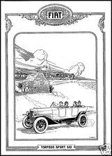 PUBBLICITA' 1921 AUTO FIAT 510 TORPEDO SPORT TRENO CAMPAGNA LUSSO MINETTI CAR