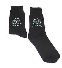 Cara triste con ojos verdes de calcetines de color negro, Gran Novedad Regalo