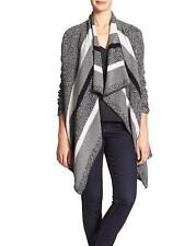 Banana Republic Womens X Small Cardigan Sweater Blanket Wrap Gray Loose Fit Nwt