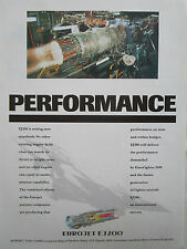 3/1993 PUB EUROJET EJ200 ENGINE FIAT AVIO MTU ROLLS-ROYCE ITP ORIGINAL AD