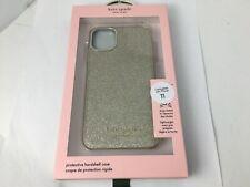 "Kate Spade Wrap Case Gold Munera Glitter for Apple iPhone 11 (6.1"") gold logo"