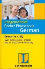 Langenscheidt Pocket Phrasebook German: With Travel Dictionary and Grammar Lang