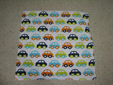 Safety 1st First Cars Microplush Baby Blanket Aqua Orange Green Navy White Euc
