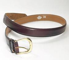 "Dockers Leather Belt Gold Tone Buckle Reddish Brown #4093  32/80 1"""