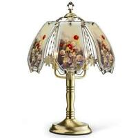 Gold 'Floral Garden' Touch Lamp Gold Modern & Contemporary