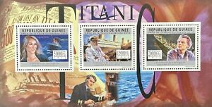 GUINEA TITANIC STAMPS '12 MNH EDWARD SMITH DiCAPRIO DION CRUISE SHIP OCEAN LINER