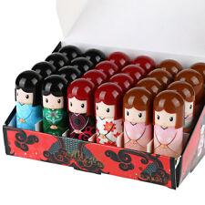UK Box 24 x scented Lip balm kimono doll wholesale job lot bulk buy lipstick new