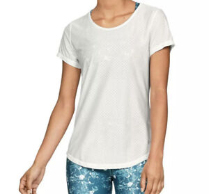 Under Armour Womens Ivory Running Fitness Yoga T-Shirt Athletic xxs
