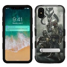 "for Apple iPhone Xs Max (6.5"") Hard+Rubber Rugged Case Star Wars Mandalorian #SO"