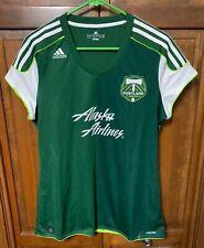 adidas Portland Timbers MLS Soccer Jersey Women XL Green