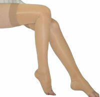 FDA Approved Sheer Compression Stockings Thigh High 20-30 mmHg Silicone Top Band