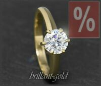 Diamant 585 Gold Brillant Ring mit 1,10 ct, River D & Si; 14 Karat Damenring NEU