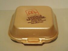 Vintage McDonald's McCHICKEN Styrofoam Clamshell Food Container, MINT display