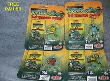 TEENAGE MUTANT NINJA TURTLES 3-D Trading Cards 4 Sealed Packs  FREE P&H in U.S.