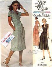 1970's VTG VOGUE  Dress Diane Von Furstenberg w/Label Pattern 1610  Size 12 UNC