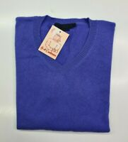 PULL TAILLE XL SWEATER FEMME DONNA 100% PUR CASHMERE CACHEMIRE ENZO MANTOVANI