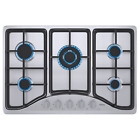 IsEasy Built-in Gas Cooktop Stainless Steel/Glass LPG NG Hob Silver/Black Cooker photo