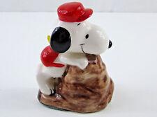 Vintage Peanuts Snoopy Porcelain Figurine Back Packing Hiker 1958 Japan