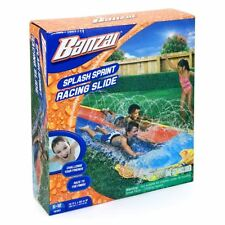 New Banzai 16ft Splash Sprint Racing Slide Garden Summer Slip N Slide Official