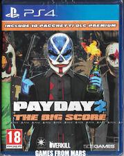 PAYDAY 2 THE BIG SCORE + 10 Pacchetti DLC Premium / PS4 / NUOVO ITALIANO