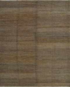 Braided Jute Rug, 8'x10', Brown, Handwoven