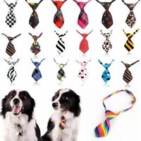 Cool Dog Neckties Adjustable Polyester Bow Tie Pet Small Cat Collar Grooming