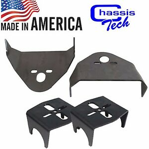 "B Weld On Upper & Lower Air Bag Mounting Brackets Mounts Suspension 3.5"" axl"
