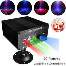 120 Muster RGB Laser DJ Projektor LED Bühneneffektbeleuchtung Sprachsteuerung