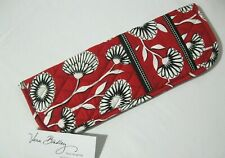 Vera Bradley DECO DAISY STRAIGHTEN UP & CURL Curling Iron COVER Case BAG  NWOT