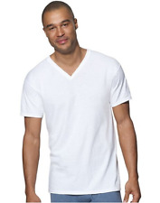 Hanes Men Small Comfort Soft Tagless White V-Neck T-Shirts 6 Pk New No Packaging