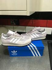 adidas new york trainers size uk 11 ice purple/white