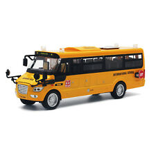 Yellow School Bus Alloy Diecast Car Model Pull Back Toy Vehicle Gift Kids 9 inch