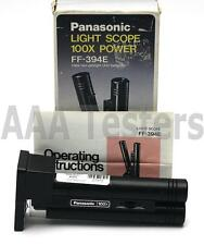 Panasonic FF-394E Light Scope Fiber Optic Microscope Fiberscope FF-394 FF 394E