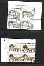 N°489-lot 2 blocs de 4 timbres GEORGES SIMENON -neufs-Belgique et Suisse 1994