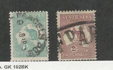 Australia, Postage Stamp, #51, 53 Used, 1916 Kangaroo