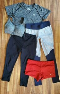 Women's Activewear Lot of 5, Workout leggings, bra, Tank Top Size M Mixed Brands