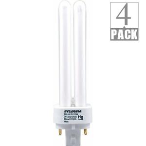 Sylvania 20671 13W 3500K 4-Pin Base CF13DD/E/835/ECO Compact Fluorescent 4-Pack