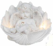 Engel AMOR mit LED Wechsler Kerze rechts Weiss Verliebt Valentinstag H=12 cm