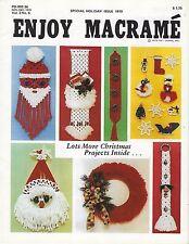 Enjoy Macrame Nov/Dec 1979 Vol. 3 No. 6 Newsletter Christmas Holiday Patterns
