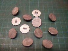 Pewter buttons 18mm flat (12 pack), for historical clothing, costume & uniforms.
