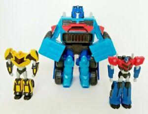 Transformers Rescue Bot Easy Transforming Robot Blue Truck 2 Mini Figures