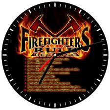 """8"""" WALL CLOCK - FIREFIGHTER 18 Fireman Fire Dept Man Hero Responder Emergency"""