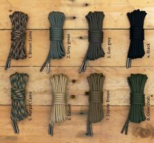 Stringhe lacci per Anfibi in Paracord 550 | Paracord Shoelaces | Black Squirrel