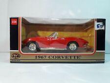 1967 Corvette Convertible, Motor Max - Die Cast Metal Factory Built Toy, 1:24