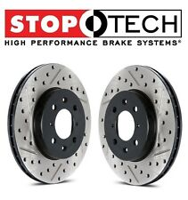 Fits Acura RSX Honda Set of Rear Left & Right Drilled & Slotted Brake Rotors